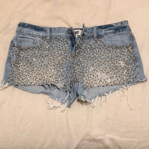Denim shorts from PINK. Size 6.